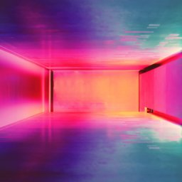 Camp Nou, Barcelona, Spain multicolored hallway