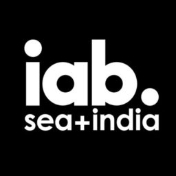 IAB Sea+India logo black and white