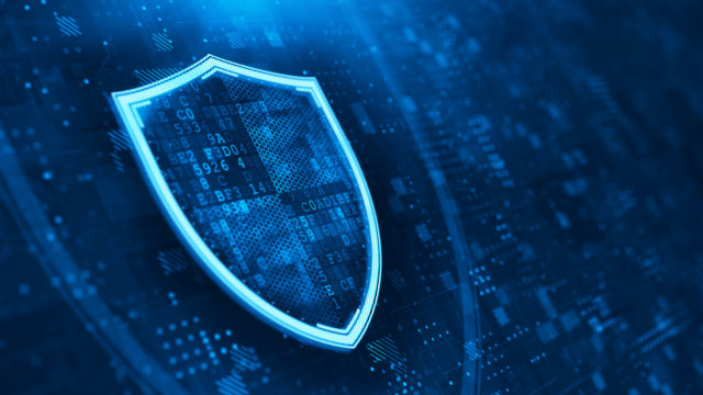 igital Shield on abstract technology